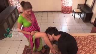 bgrade maid seduces with awesome cleavage