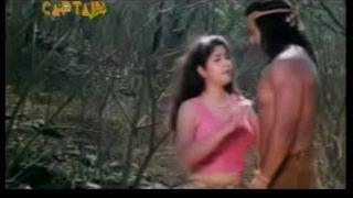 City girl kissing Tarzan in bollywood movie (new)