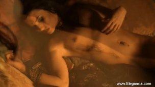 Erotic Movement With Seductive Brunette