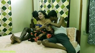 Hot xxx Bhabhi fucking with two brother in law With Clear dirty talk