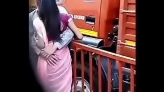 Indian lovers romance in street